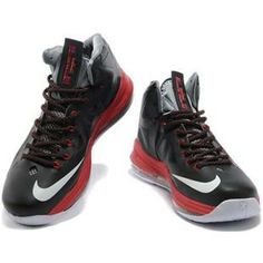 http://www.asneakers4u.com/ Nike Zoom Lebron 10 Shoes Black/Red/White Sale Price: $75.40