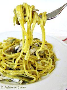 Strangozzi con Seppioline e Carciofi | 2 Amiche in Cucina