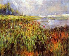 Bulrushes on the Banks of the Seine / Pierre Auguste Renoir, 1874