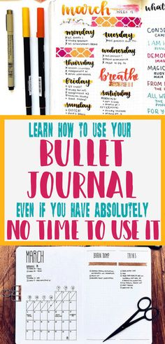 Bullet Journal - Tips on how to bullet journal when you have no time! We all have busy schedules and these nine easy steps will help you find the time to maintain your bullet journal. Get inspired with these bullet journal ideas and feel confident you can do it with little time!