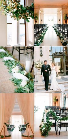 Love the aisle decoration. #weddingaisle #weddingdetails #cuteweddingaisle