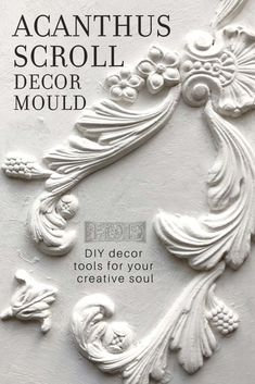 Adding vintage three dimensional details to your DIY projects has never been easier! Check out the latest release of Decor Moulds from Iron Orchid Designs. Diy Home Decor Projects, Furniture Projects, Furniture Makeover, Craft Projects, Project Ideas, Repurposed Furniture, Painted Furniture, Diy Furniture Appliques, Iron Orchid Designs
