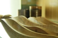 "Wooden bowls ""Waves"" / drevené misy ""vlny"""