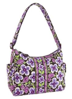 My new Vera Bradley.  Purple + flowers=  :)