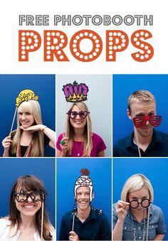 Fun DIY Photo Props - 40 Ways to Make Your Party Photos Memorable - Photoshop Actions Wedding Photo Booth Props, Diy Photo Booth, Photo Props, Picture Booth, Photo Booths, Picture Ideas, Party Photos, Wedding Photos, Photobooth Props Printable