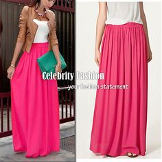 sk78+Celeb+Style+Pastel+Flowy+Volume+Candy+Coloured+Pleated+Maxi+Long+Skirt