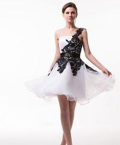 Rochie alb negru cu un umar COD ROC08 Prom Dresses, Formal Dresses, Corset, High Low, Art, Fashion, Dresses For Formal, Art Background, Moda