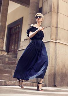 Long gathered detail skirt