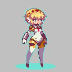 not my pixel art Sprites, Character Concept, Character Design, Pixel Life, Chibi, Anime Pixel Art, Pix Art, Pixel Characters, Pixel Animation