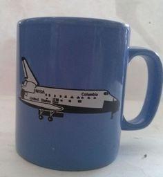 Columbia Space Shuttle NASA Coffee Cup Mug Staffordshire England Kiln Craft