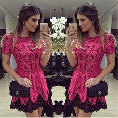 Vestido De Renda Rosa - For her: Clothes