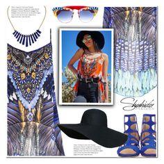 """Shahida Parides Coachella Cami Contest"" by duma-duma ❤ liked on Polyvore featuring Jimmy Choo, Lazuli and Dolce&Gabbana"