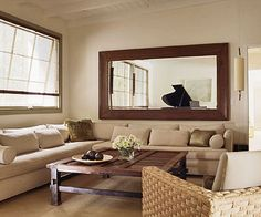 Superior Accessorize With Decorative Mirrors. Mirror Over CouchTable ...