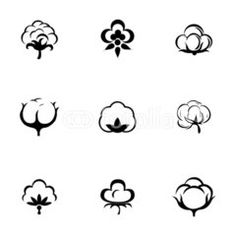 Vector cotton icon set Inc Logo, Bed Cover Design, Iphone Wallpaper Vsco, Branding Design, Logo Design, Cotton Box, Drawing Letters, Textile Logo, Clothing Logo