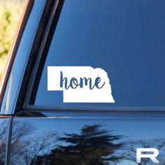 Nebraska Home Decal | Nebraska State Decal | Homestate Decals | Love Sticker | Love Decal | Car Decal | Car Stickers | 119