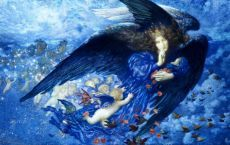 """""""Night with her Train of Stars"""" by Edward Robert Hughes"""
