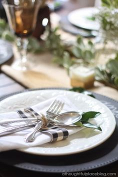 Rustic Fall Table: Place setting
