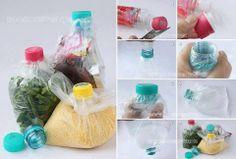 plastic zakje en dop