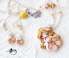 collana con fata  orecchini in regalo / collana di ZingaraCreativa