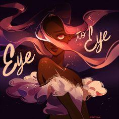 vickisigh: For mangokitty's newest song, Eye to Eye! Cartoon Kunst, Anime Kunst, Cartoon Art, Anime Art, Art And Illustration, Arte Inspo, Kunst Inspo, Fantasy Kunst, Fantasy Art