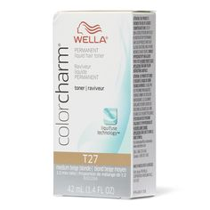 Wella Color Charm Permanent Liquid Hair Toner with liquifuse technology is ideal for creating pure double process blonde hair color results. Beige Blonde Hair, Light Ash Blonde, Blonde Color, Hair Color, Wella Hair Toner, Toner For Blonde Hair, Tone Hair At Home, Liquid Hair, Perfect Blonde