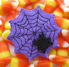 Halloween Spider Web Brooch Felt Pin Costume by myhideaway on Etsy, $17.00
