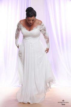 Plus size wedding gown White collection Tara (3)