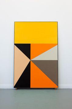 Thomas Raat - The House of Fiction - 2012  Oil on MDF metal frame 115 cm x 175 cm