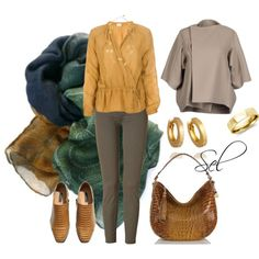 """curry & brown"" by selenitabr on Polyvore"