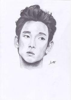 Sketch of Kim Soo Hyun by @HuiEn. #sketch #sketching #kimsoohyun #soohyun #korean #actor #kdrama #pencil #drawing #portrait #art #artwork