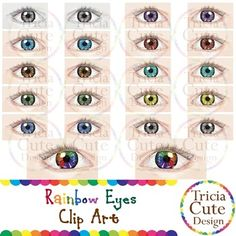 Eye Colors vary within and among populations. This EYE COLORS clip art set contains 22 PNG images including 11 pairs of eyes. They are great for your Science, Biology, Geography or any projectsThe different eye colors are:AmberBrownBlackSky BlueDark BlueTeal GreenVioletRedRainbow (Special Design)Grayscale (Printer-Friendly)PNG images: 300 dpi, can be enlarged.You might also like:Eyes Clip Art  Sad, Shock, Tired, Angry EmotionsLets Connect and Follow Me on:FACEBOOKPINTERESTNote: You may use…