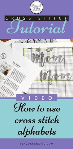 If you've ever wondered how to use cross stitch alphabets to make a custom cross stitch pattern, wonder no more! This video tutorial will walk you through the steps to make your own custom patterns.