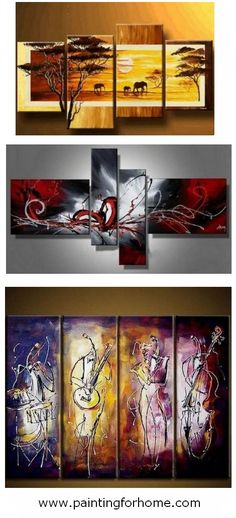 Hand painted group paintings for home decoration. Large wall art, canvas painting for bedroom, dining room and living room. #painting #art #wallart #walldecor #homedecor #homedecoration #grouppainting #groupart #canvaspainting #abstractart