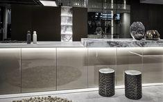 blu_line continually reimagines the kitchen Showroom, Architecture, Kitchen, Arquitetura, Cooking, Kitchens, Architecture Design, Cuisine, Fashion Showroom
