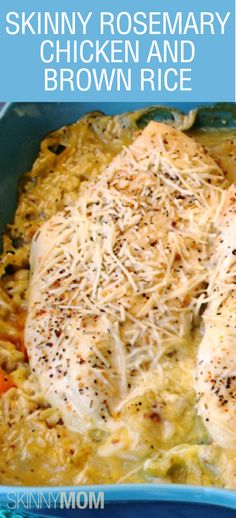 Skinny Rosemary Chicken & Brown Rice. new healthy meals! It's healthy, delicious, and completely full of fabulous flavor!