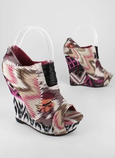 stitched tribal wedge bootie  $28.10