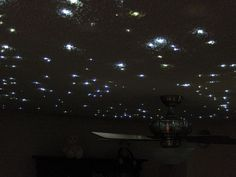 How to create a fiber optic starfield ceiling