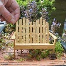 casitas con palitos de helado Adirondack Bench - diy w/popsicle sticks. Pinned for Tina for under your fairy doorUnder the Skin Under the Skin may refer to: Popsicle Stick Houses, Popsicle Crafts, Craft Stick Crafts, Craft Sticks, Diy With Popsicle Sticks, Popsicle Stick Crafts House, Fairy Furniture, Dollhouse Furniture, Doll Furniture