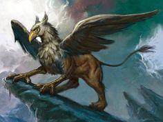 Aarnikotka on kulta-aarretta vartioinut taruolento, jolla on kotkan pää, siivet sekä etujalat ja leijonan vartalo, takajalat ja häntä.
