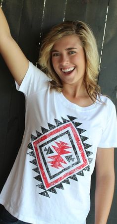 Red & Black Aztec T shirt