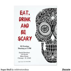 #zazzle Sold this #sugarskull #halloween #trickortreats #invitations to NJ.  Thanks for you who purchased this. Check more at www.zazzle.com/celebrationideas/sugar+skull