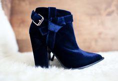 blue velvet boot