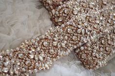 rose gold Rhinestone Sash belt trim, pearl crystal bead trim, bridal sash belt, rose gold rhinestone sash sell by YARD hot selling 2016 new from LaceFun on Etsy Studio Rhinestone Fabric, Beaded Lace Fabric, Rhinestone Appliques, Fabric Beads, Beaded Trim, Gold Rhinestone, Embroidered Lace, Embroidery Fashion, Pearl Embroidery