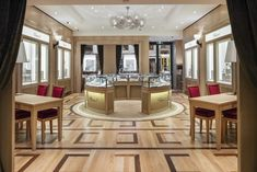 Custom-made floor design forChopard Boutique Melbourne by @renaissanceparquet  #architecture #Australia #Australianmade #contemporarydesign #custommadefloor #Engineered #exclusive #FrenchOakParquet #hardwoodparquetry #luxurious #Melbourne #RenaissanceParquet #renovation #interiordesign
