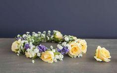 blomsterkrans til håret bryllup - Google-søk