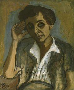 Alice Neel (American, 1900-1984), Sarah Shiller, 1952. Oil on canvas, 55.9 x 45.7 cm.