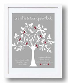 Personalized Grandparents Gift  Christmas by KreationsbyMarilyn, $15.00 Grandparents Christmas Gifts, Christmas Mom, Grandparent Gifts, Unique Christmas Gifts, Christmas Ideas, Grandmother Birthday, Birthday Gifts For Grandma, Grandma Gifts, Craft Gifts