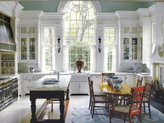 White Cabinets and this window!