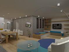 интериор със специален кът за четене и сини акценти http://indesign.bg/jilishten_interior_18