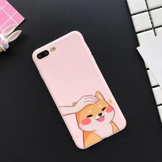 Phone Case for For iPhone 6 7 8 Plus X Cute Dog Frosted Soft TPU Mobile Phone Back Cover Case Capa Phone Cases, Electronics, Phone Case, Consumer Electronics Iphone 6, Iphone Phone Cases, Phone Covers, Korean Phones, Korean Phone Cases, Cute Cases, Cute Phone Cases, Mobiles, Apple Technology